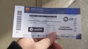 バルセロナのチケット